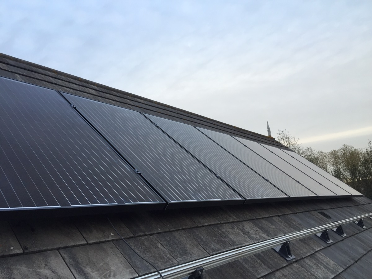Sharp 285 watt all black solar panels , Tiptree Essex.