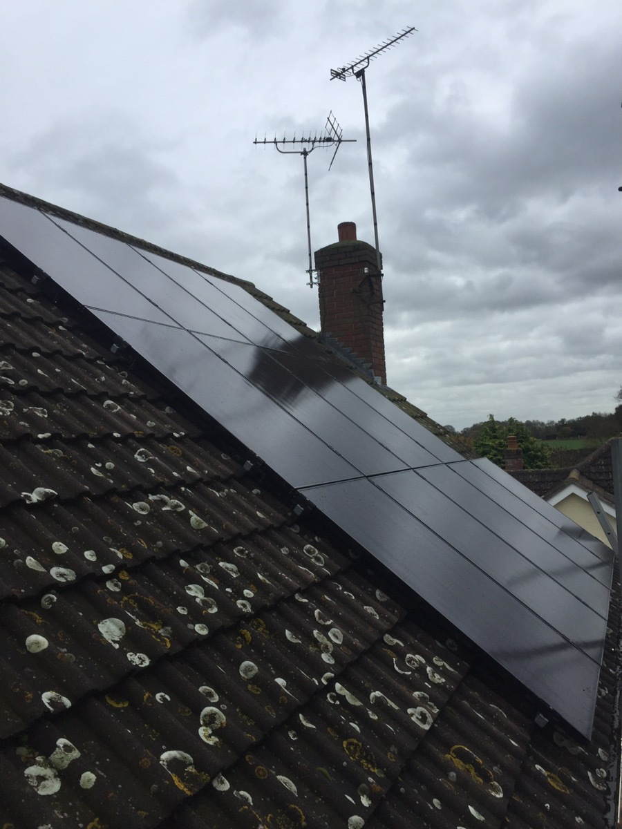 LG all black Solar Pv panels Woodham  Walter, Chelmsford, Essex