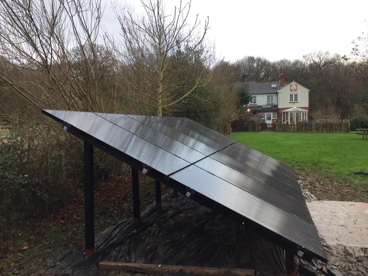 Ground mount Solar PV Panels 12 LG neon mono all black