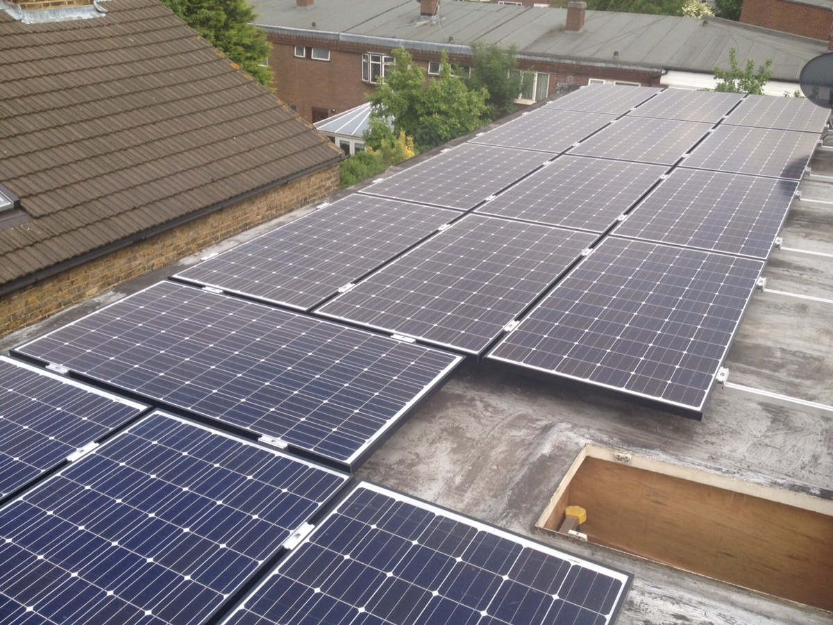 Panasonic solar Pv HIT panels Brixton