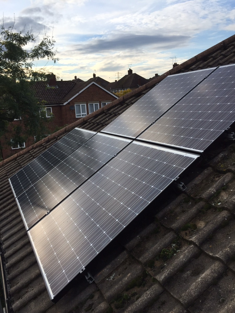 Solar panels Upminster , Panasonic HIT 1.25 kW