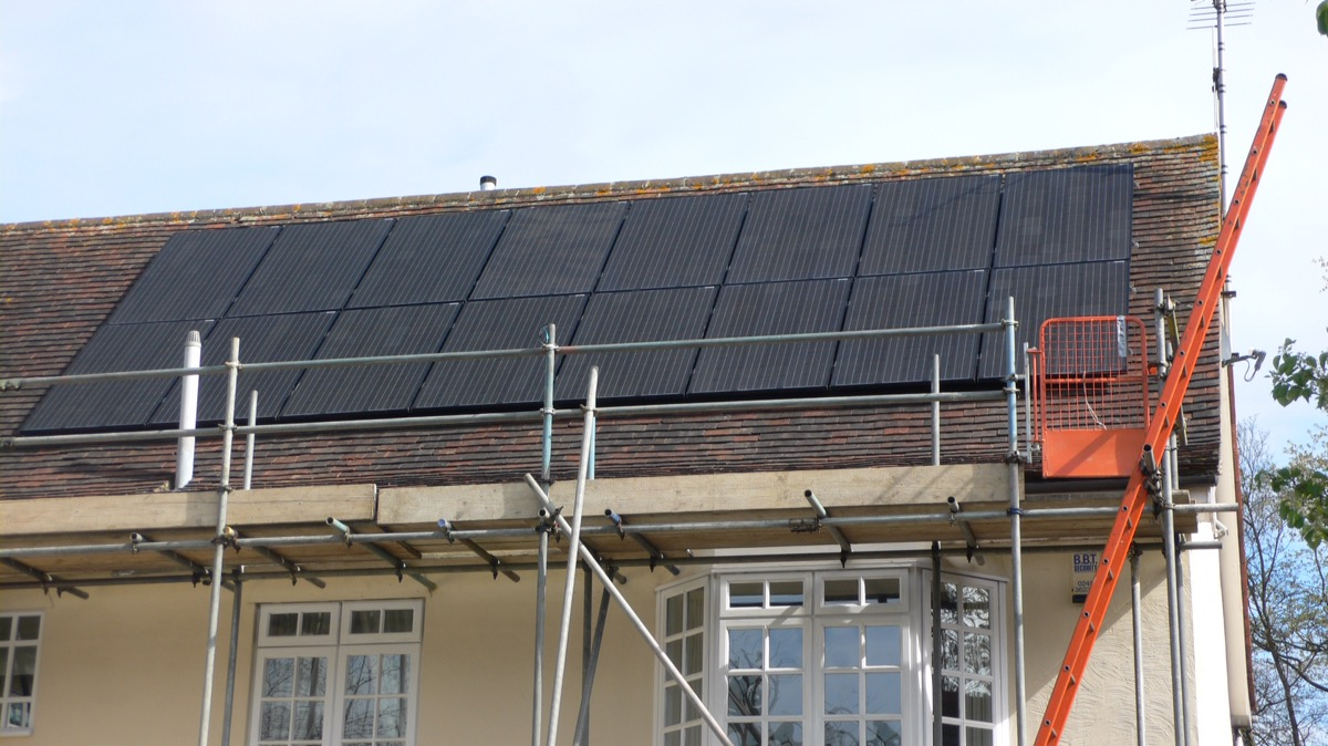 Lg solar PV panel installation in Shenfield , Essex.